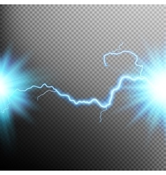 Electrical discharge Lightning EPS 10 vector