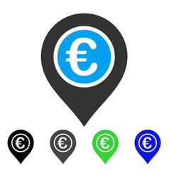 Euro pointer flat icon vector