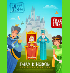 Fairy kingdom vector