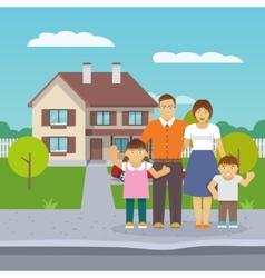 Family house flat vector