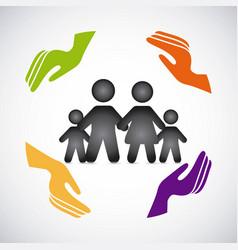 Family insurance concept icon vector