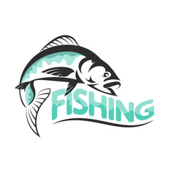 fishing silhouettes vector image