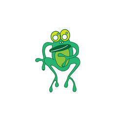 frog cute animal cartoon vector image