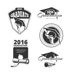 Graduating class badges emblems T-shirt vector image