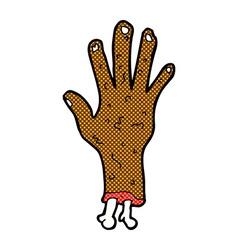 Gross zombie hand comic cartoon vector