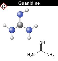 Guanidine molecule vector image
