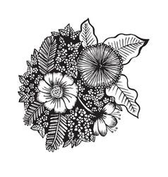 Hand drawn flower vector