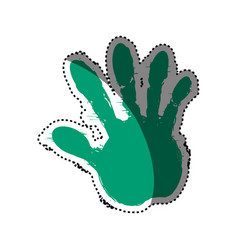 Hand fingers silhouette vector