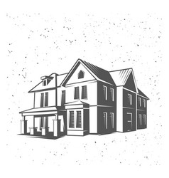 house silhouette black and white vector image