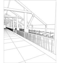 Industrial building constructions milk farm vector