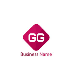 Initial letter gg logo template design vector