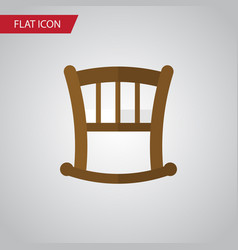 Isolated bed flat icon infant cot element vector