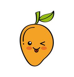 Kawaii fruits design vector