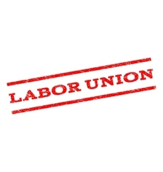 Labor Union Watermark Stamp vector