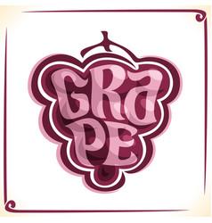 Logo for red grape vector