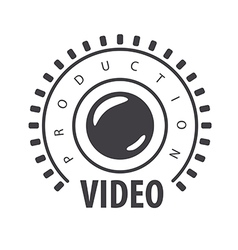 Logo lens and film in the circle vector