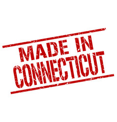 made in connecticut stamp vector image