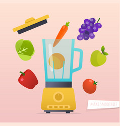 make a smoothie different ingredients vector image