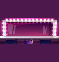 Makeup mirror in studio vector