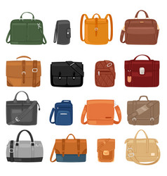 Man bag men fashion handbag or business vector
