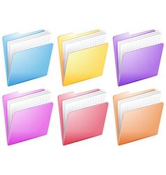 Medical nurse files in colorful folders vector