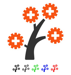 Medical technology tree flat icon vector