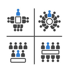 meeting and conference icon set vector image