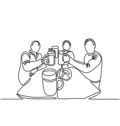 Men drinking beer vector