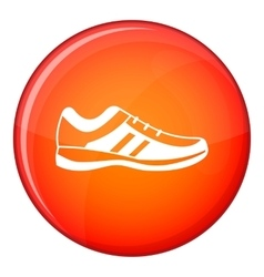 Men sneakers icon flat style vector image