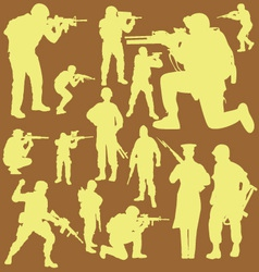 Military Digital Clipart 2 vector image
