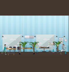 Military hospital concept in vector