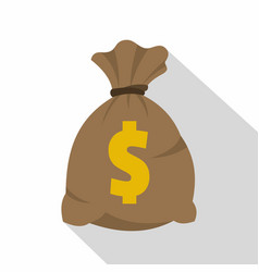 money bag with us dollar sign icon flat style vector image