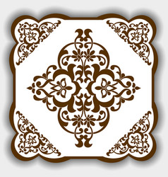 pattern in east asia style as a template vector image