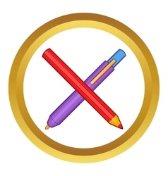 Pencil and pen icon vector