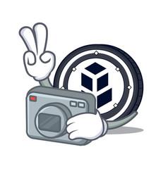 Photographer bancor coin mascot cartoon vector