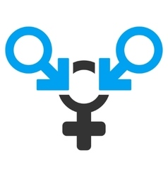 Polyandry Flat Icon vector image