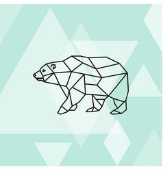 Polygonal of polar bear vector