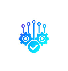 Project completion icon vector