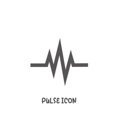 pulse icon simple flat style vector image