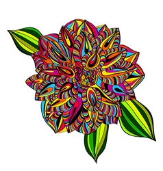 Rainbow Multicolored Dahlia vector