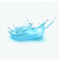 Realistic water splash on transparent background vector image