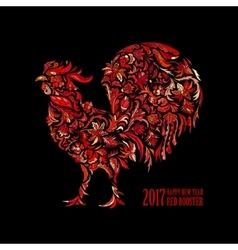 red rooster for the Chinese New year 2017 vector image