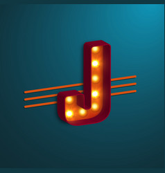 retro style letter j vector image