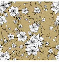 sakura branches seamless pattern vector image