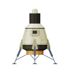 space vehicle cosmos exploration theme flat vector image