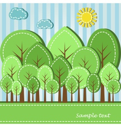 spring or summer colored forest dashed style vector image