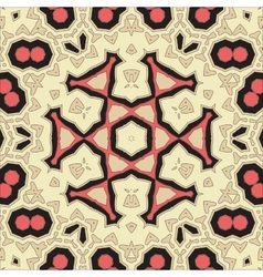 Square Yoga Mandala Pattern Tile for greeting card vector image