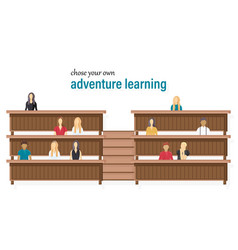students at university learning classes vector image