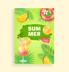 Summer sale banner promotion leaflet sample vector