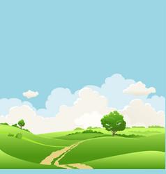 summer seasonal landscape vector image